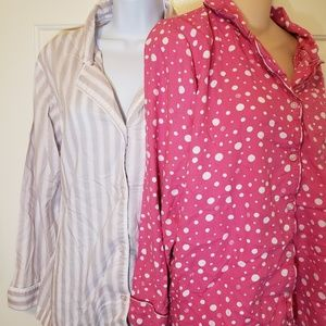 VS Pajama Lot of 2 Victoria's Secret Set Pink Dot